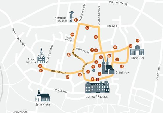 Karte Öhringen